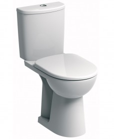 E100 Round Close Coupled Comfort Height Toilet & Standard Seat - Special Offer