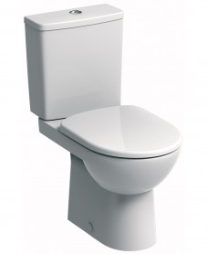 E100 Square Close Coupled Premium Toilet & Standard Seat