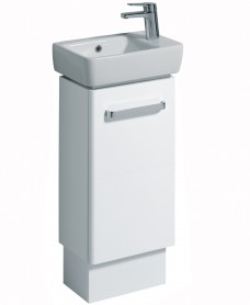 E200 400 White Vanity Unit Floor Standing
