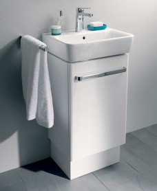 E200 550 White Vanity Unit Floor Standing