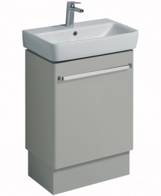 E200 600 Grey Vanity Unit Floor Standing