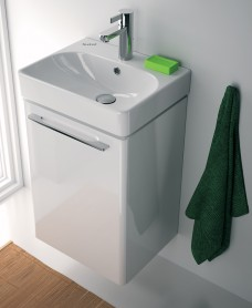 E500 450 White Vanity Unit Wall Hung