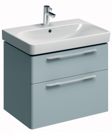 E500 750 Grey Vanity Unit Wall Hung