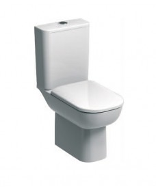 E500 Square Rimfree® Close Coupled Toilet & Soft Close Seat
