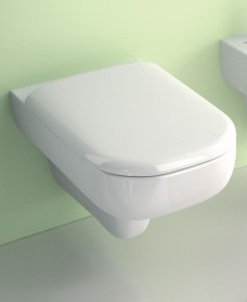E500 Square Wall Hung Toilet & Standard Seat