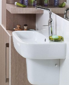 Facile Basin 60cm & Semi Pedestal & Cosmos Tap & Waste - *Special Offer