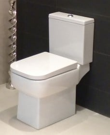 Florence Open Back Close Coupled Toilet & Soft Close Seat