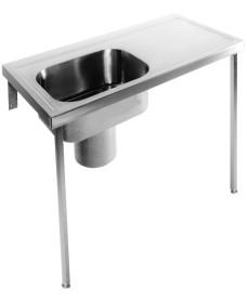 Penang HTM64 Plaster Sink 1200 x 600 Left Hand