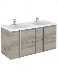 Avila 120 Unit 4 Drawer Sandy Grey & Idea Basin