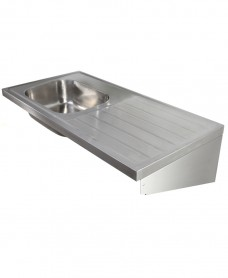 Jersey HTM64 Sit-on Sink 1200x600mm Single Bowl & Drainer L/R