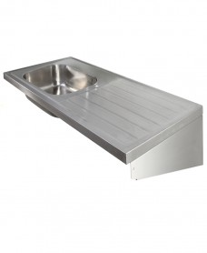Jersey HTM64 Sit-on Sink 1500x600mm Single Bowl & Drainer L/R
