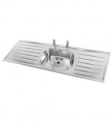 Jersey HTM64 Sit-on Sink 1500x600mm Single Bowl Double Drainer