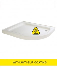 JT Ultracast 1000x800 Offset Quad  Upstand Shower Tray RH - Anti Slip