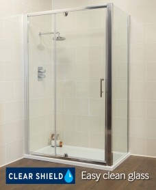 K2 Range 1100 Pivot & Inline door with Side Panel