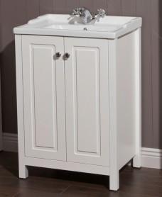 Kingston 60 Chalk White Vanity Unit & Victoria Basin