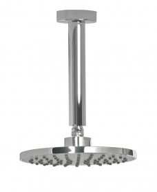Leena Round 200mm Grey Faceplate Shower Head & 200mm Ceiling Shower Arm