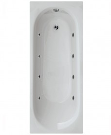Lotus 1700 x 700 Single Ended 8 Jet Whirlpool Bath - Special Offer* - Includes Choice of Bath Shower Mixer