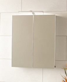 Luxor 2 Door Aluminium Bathroom Cabinet 600 x 700