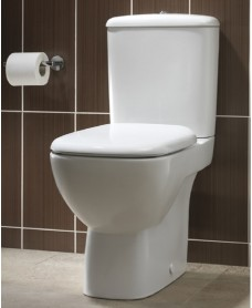 Twyford Moda Close Coupled Toilet & Soft Close Seat - 4/2.6L Flush
