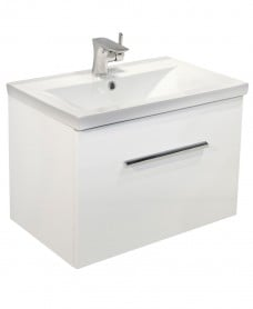 Nova White Slimline 60cm Wall Hung Vanity Unit