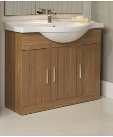 Oslo Walnut 105cm Vanity Unit & Basin