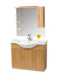 Oslo Walnut Pack inclduing Vanity Unit and Mirror