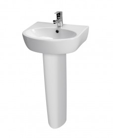 Parva Basin 50cm  & Pedestal (1TH) with Choice of Tap - *Special Offer
