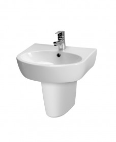 Parva Basin 55cm & Semi Pedestal (1TH) with Choice of Tap - *Special Offer