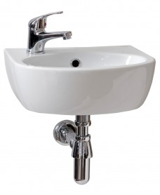 Parva Handrinse 40cm Basin LH (1TH) with Choice of Tap - *Special Offer