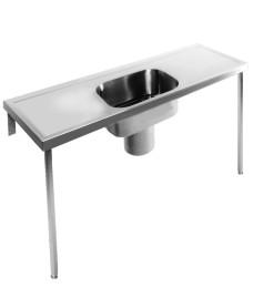Penang HTM64 Plaster Sink Single Bowl Double Drainer 2400