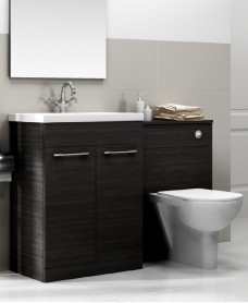 Porto Black Combo - Special Offer* - E100 includes toilet, choice of  tap & waste