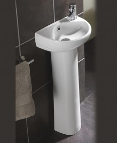 Twyford Refresh Cloakroom 36cm Basin & Pedestal (1TH)