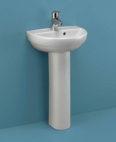Twyford Refresh Handrinse Basin 45cm & Pedestal (1TH)