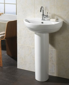 Twyford Refresh Basin 50cm & Pedestal (1TH)