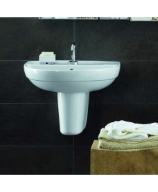 Twyford Refresh Basin 55cm & Semi Pedestal (1TH)