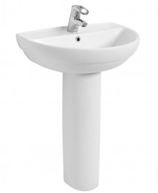 Refresh 600 Basin & Pedestal 1 Tap Hole