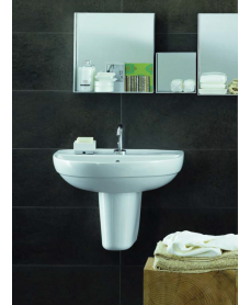 Twyford Refresh Basin 50cm & Semi Pedestal (1TH)