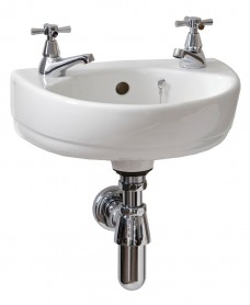 Twyford Refresh Cloakroom 36cm Basin (2 TH)