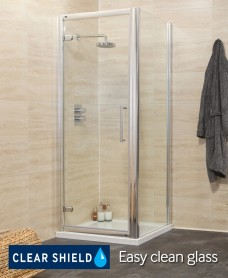 Revive 1200 Hinge Shower Enclosure with Single Infill Panel