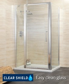 Revive 1100 Hinge Shower Enclosure with Single Infill Panel