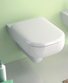 E500 Round Wall Hung Rimfree® Toilet with Soft Close Seat