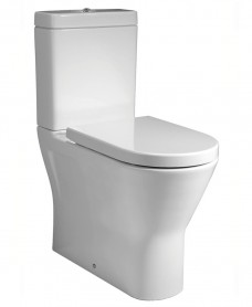 Resort Comfort Height Fully Shrouded Rimless Toilet & Soft Close Seat
