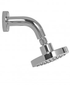 Riva Round 120mm Chrome Shower Head & 114mm Wall Shower Arm