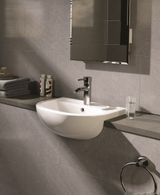 Compact Semi Recessed Basin 55cm