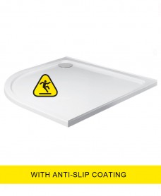 Kristal Low Profile  1000X800 Quadrant LH Shower Tray -Anti Slip with FREE shower waste