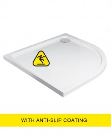Kristal Low Profile 1000X800 Quadrant RH Shower Tray -Anti Slip  with FREE shower waste