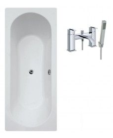 Clover Double Ended Bath - Special Offer* - Includes chrome POOLE Bath Shower Mixer & Waste
