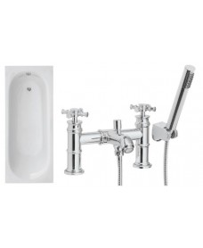 Lotus 1700 x 700 Single Ended Bath - Special Offer* - Includes chrome SUTTON Bath Shower Mixer & Waste