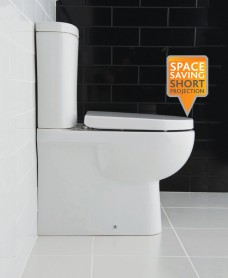 Tonique Fully Shrouded Toilet & Soft Close Seat - Comfort Height - Projection 625mm