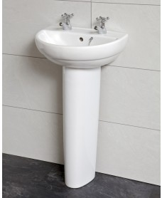 Twyford Refresh Handrinse Basin 45cm & Pedestal (2TH)